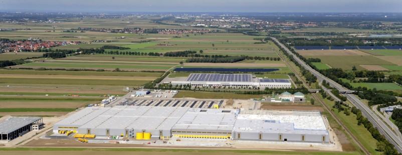 Luftbild /Baustelle Amazon bei Schwabmünchen / Kleinaitingen / GrabenBild: Ulrich Wagner